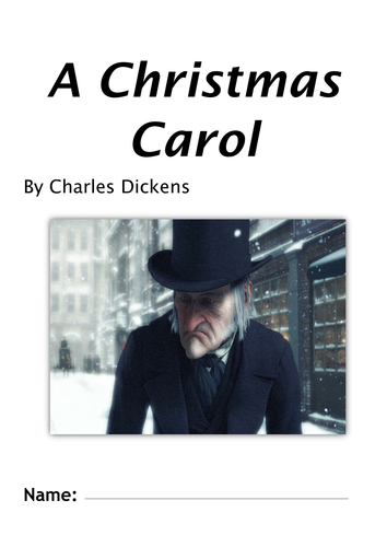 A Christmas Carol by Charles Dickens  worksheet booklet (20 lessons) KS3 KS4