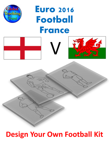 England V Wales. Euro2016 Football. Design your own kit activity
