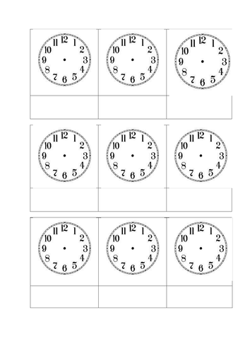 blank clock faces by leannegwilliam teaching resources tes. Black Bedroom Furniture Sets. Home Design Ideas