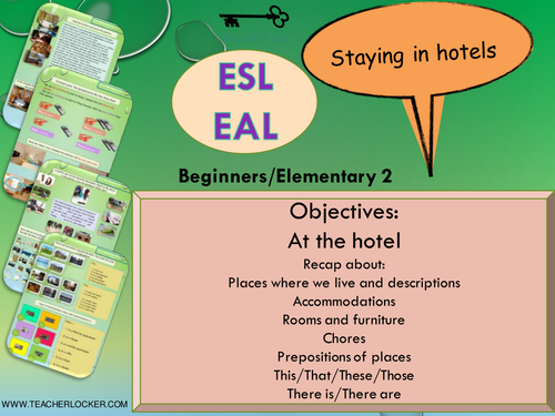 ESL - EAL Grammar recap -  Staying at hotels Unit 3/Lesson5 (Lesson + Exercices) (no prep)