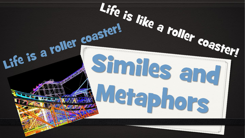 Similes and Metaphors - PowerPoint Lesson and Set of 16 Worksheets ...