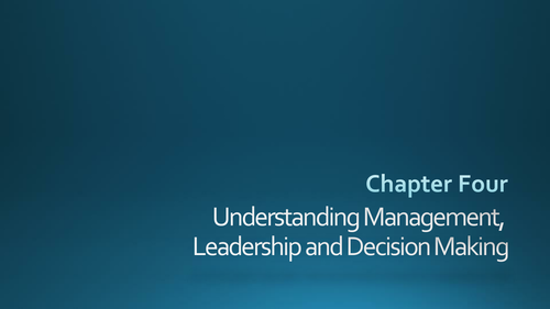 AQA A-Level Business - Unit 2 Managers, Leadership and Decision-Making