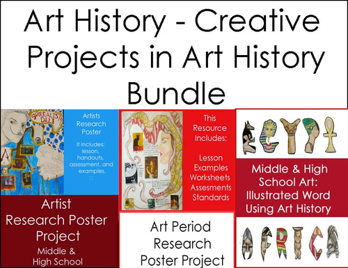 High School Art LessonArt History Bundle 3 Art Lesson by – Art History Worksheets