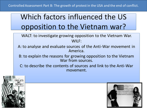 Which factors influenced the US opposition to the Vietnam war? GCSE