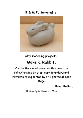 Clay modelling. Make a simple Rabbit.
