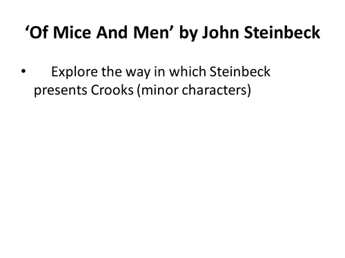 How does steinbeck present disadvantaged characters