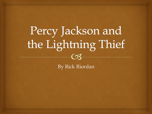 percy jackson and the lightning thief homework booklet by em2702