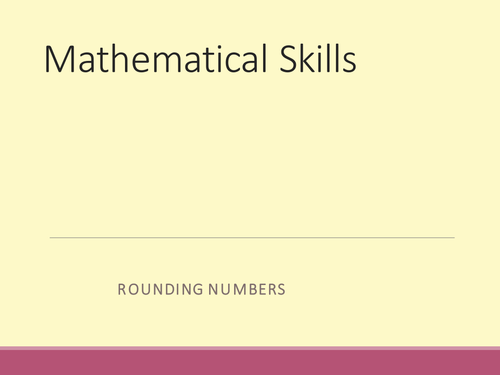 Rounding and significant figure