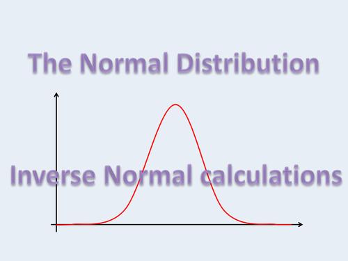 Inverse Normal calculations