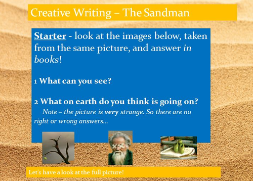The Sandman Creative Writing