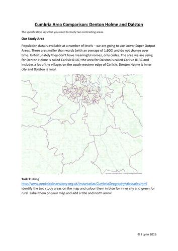 Contrasting Areas Study: Virtual fieldwork booklet