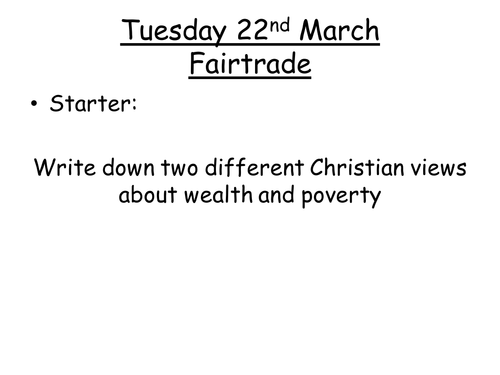 Christian views on fairtrade