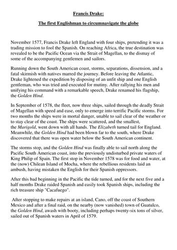 Sir Francis Drake and circumnavigation