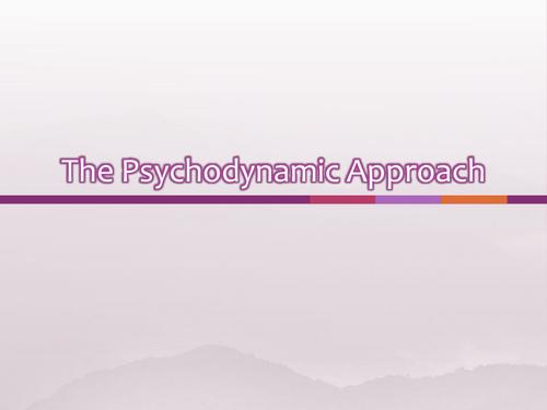 Psychodyanmic Approach Powerpoint - AQA New Specification
