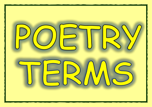 Poetry Terms/Techniques Display Cards