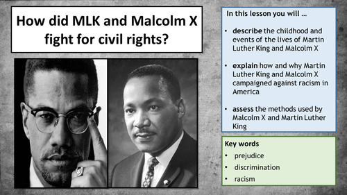 civil rights malcolm x and mlk
