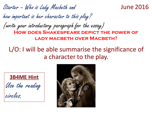 How does Shakespeare depict the power of Lady Macbeth over Macbeth?