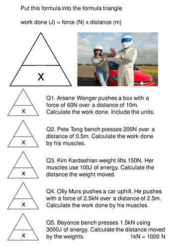 Worksheets Work Energy And Power Worksheet work done questions and answers worksheet with formula triangle for foundation gcse students by rs007 teaching resources tes