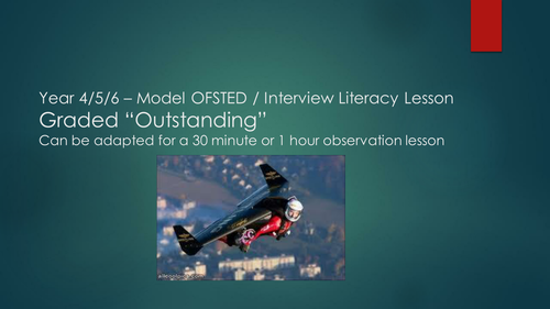 OFSTED / INTERVIEW OUTSTANDING LITERACY LESSON - STORY ANECDOTES - YEAR 4/5/6