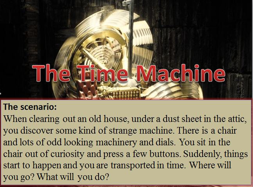 The Time Machine - One Off Creative Writing Lesson