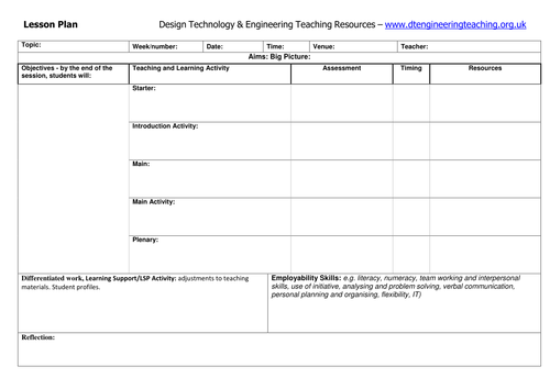Design technology engineering teaching resources - Design and technology lesson plans ...
