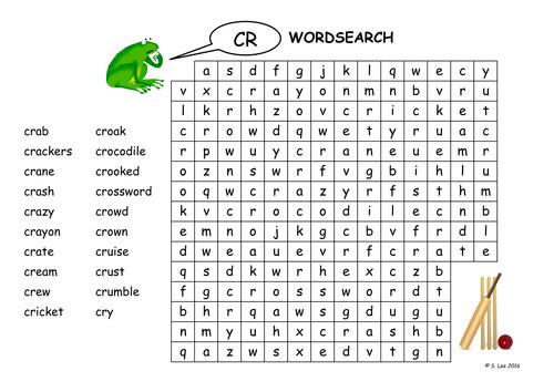 CR blends worksheets