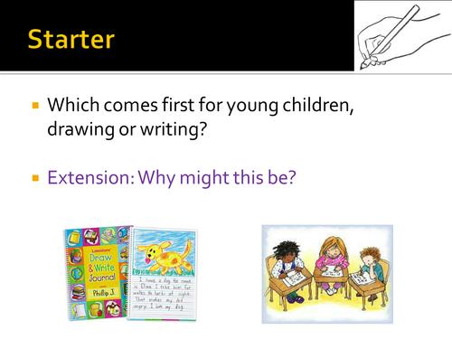 New AQA Children's Language Development (CLD) Learning to Write
