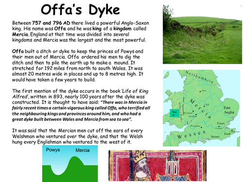 Reading comprehension: Offa's Dyke