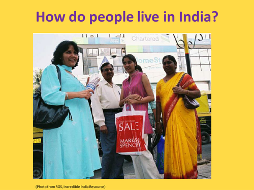 People of India Lesson- Based on RGS resources
