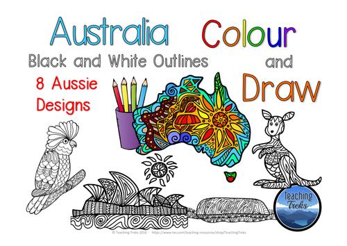 Australia Colour and Draw