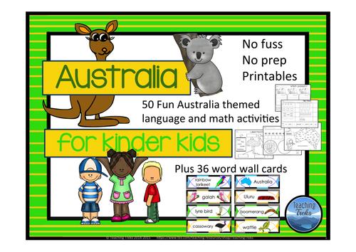 Australia for Kinder Kids