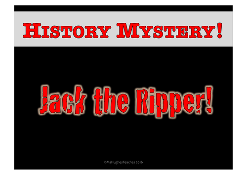 Who was Jack the Ripper? History Mystery Suspect Tournament