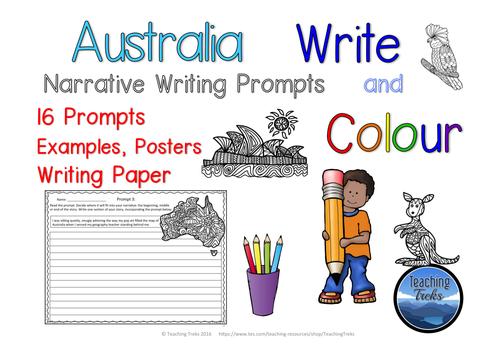 Australia Write and Colour