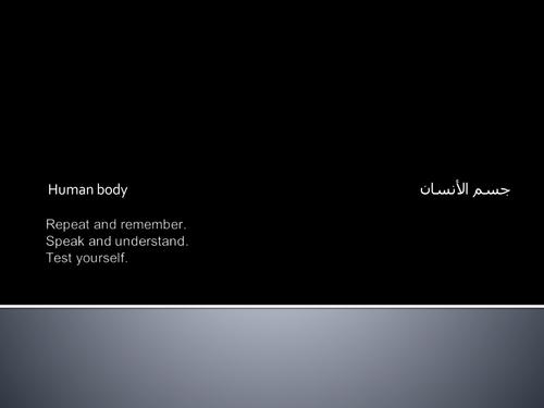 Arabic body parts