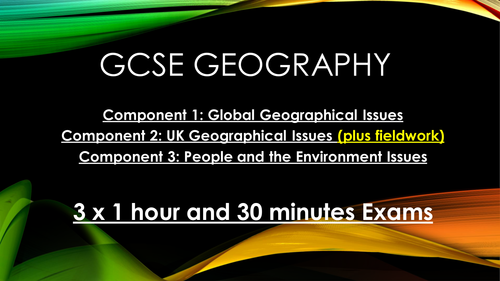 Edexcel B Geography NEW SPEC 2016 People and the Biosphere