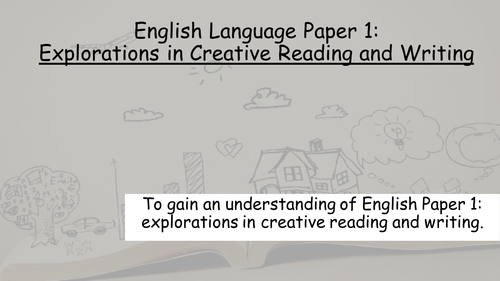 English Language Paper 1: Explorations in Creative Reading and Writing  (Question 1 and 2)