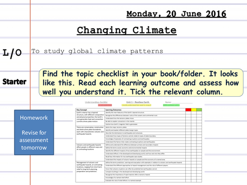 Climate Change Scheme of Work