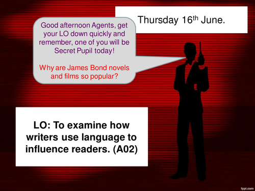 Paper 1 Explorations in creative reading. Q3. James Bond!