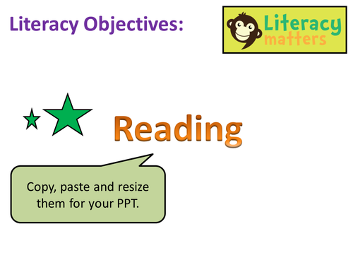 Literacy Learning Objectives