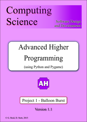 Games Programming using PyGame - Project 1 - Balloon Burst