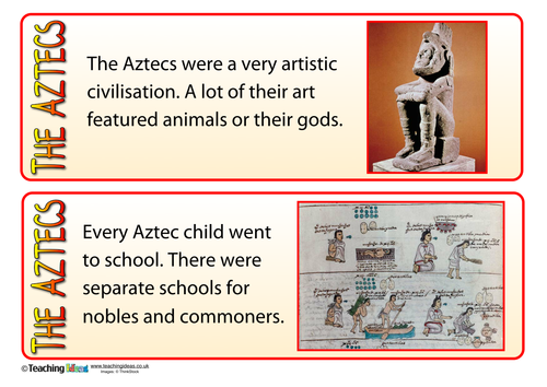 The Aztecs - Fact Cards