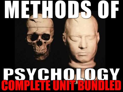 Methods of Psychology Chapter 2 Entire Unit: PPTs, Worksheets, Lesson Plans+Test