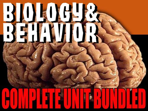 Psychology: Biology & Behavior Entire Unit Bundled: PPTs, Worksheets, Lesson Plans+Test