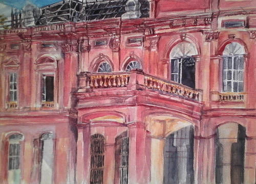 """""""Red House"""" (from Uptown & Downtown Heritage Painting Series)"""