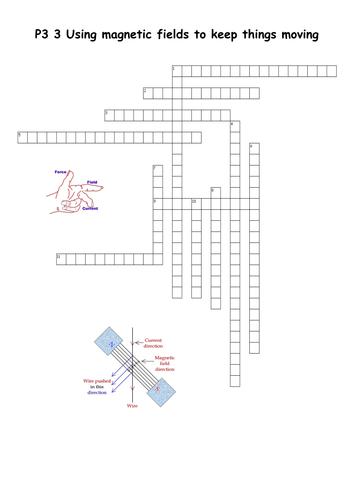 Magnetic Fields Crossword