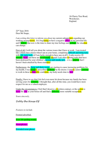 Year 3 4 Formal Letter Example By Xkarenx Teaching