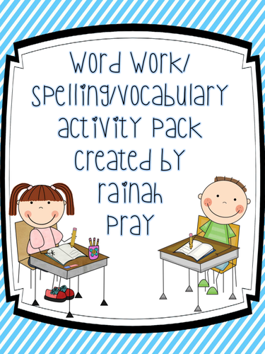 Word Work, Spelling, Vocabulary Sheets & More