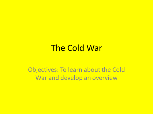 Cold War Introduction/Overview
