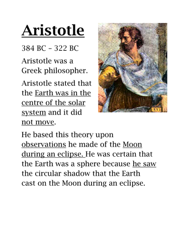 Geocentric and Heliocentric Model
