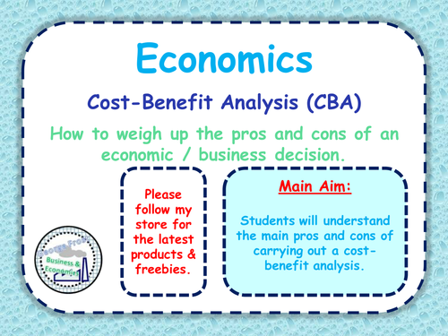 Cost Benefit Analysis Cba A Level Economics Business